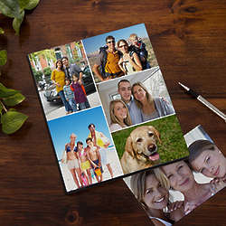Personalized 5 Picture Collage Cover Photo Album