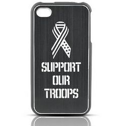 Support Our Troops iPhone Rubberized Hard Case