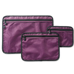 Zippered Clear-View Mesh Travel Pockets