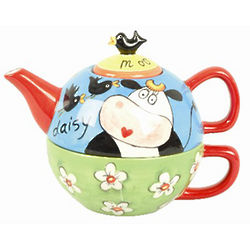 Daisy the Cow Teapot for One