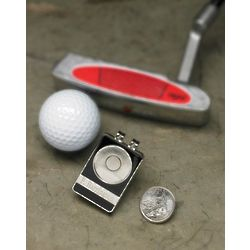 Personalized State Quarter Belt Clip Golf Ball Marker