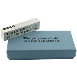 The Purpose of Life Inspirational Geometric Paperweight