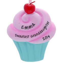 Sweetest Granddaughter Cupcake Personalized Ornament
