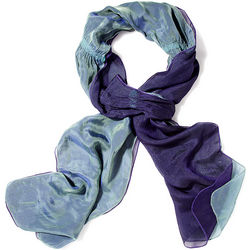Iridescent Silk and Wool Scarf