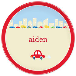 Boy's Personalized Cars Plate