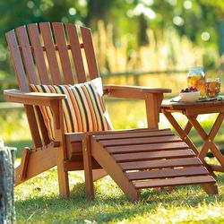 Classic American Wooden Adirondack Chair