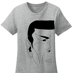 Star Trek Mr. Spock Half Face Crewneck T-Shirt