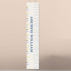 Grow Big and Tall Personalized Tan Height Chart