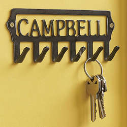 Personalized Steel Name Key Holder