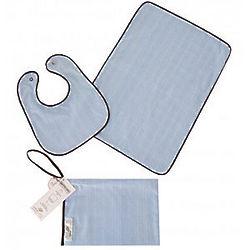 Organic Blue Baby Feeding Gift Set