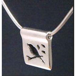Silver Bird Silhouette Pendant