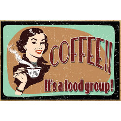 Coffee - It's a Food Group Sign