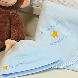 'A Star is Born' Personalized Baby Boy Blanket & Hat Set