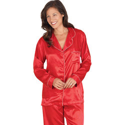 Satin Candy Cane Pajamas