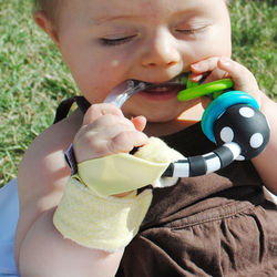 Light Yellow Loopy Baby Rattle Holder