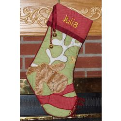 Dancing Reindeer Personalized Christmas Stocking