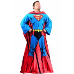 Superman Blanket with Sleeves