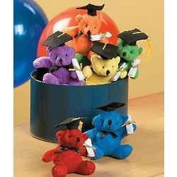 Set of 12 Plush Graduation Bears