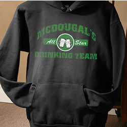 Personalized Beer Drinking Team Hooded Sweatshirt