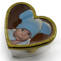 Photo Lid Heart Shaped Musical Paper Weight