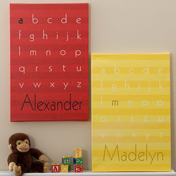 Alphabet Name Personalized Kid's Artwork