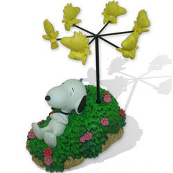 Sleeping Snoopy Day Dreaming of Woodstock Birds Figurine