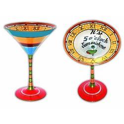 It's 5 O'Clock Somewhere Handpainted Martini Glass