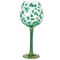 Luck of the Irish Super Bling Wine Glass