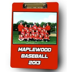Personalized Baseball Coach Photo Clipboard