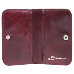 Old Leather Purple Card Case