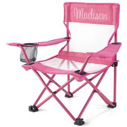 Girl's Pink Fold and Go Chair