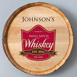 Oak Aged Whiskey Barrel Sign