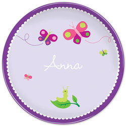 Girl's Personalized Butterfly Plate