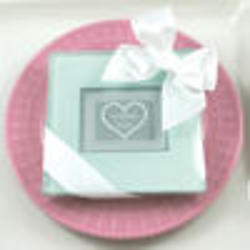 Glass Photo Coaster Baby Shower Favors