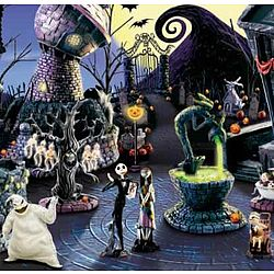 tim burtons nightmare before christmas village town collection