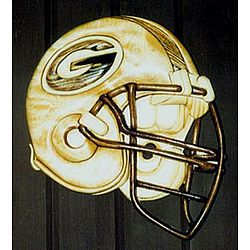 Green Bay Packer Helmet Intarsia Wall Hanging
