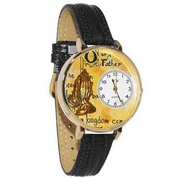 Lord's Prayer Whimsical Watch in Large Gold Case