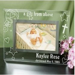 Engraved New Baby Glass Frame