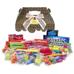 1970's Sprinkled Pink Retro Candy Gift Box