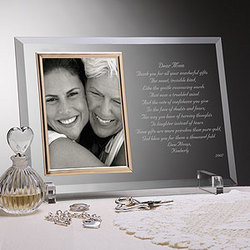 Dear Mom Personalized Glass Frame