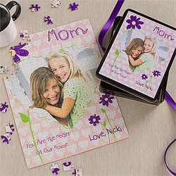 Mother Personalized Photo Puzzle and Tin
