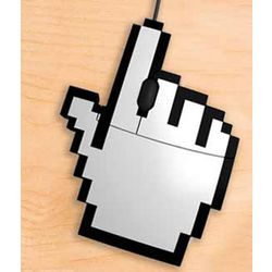 USB Pixel Hand Mouse