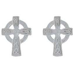 Sterling Silver Celtic Cross Earrings