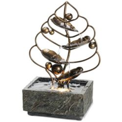 Brass Leaf Desktop Water Fountain