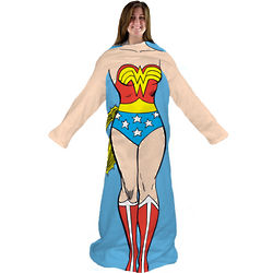 Wonder Woman Blanket with Sleeves