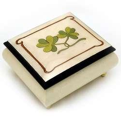 Irish Celtic Shamrock Musical Box