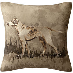 Dog Square Embroidered Pillow