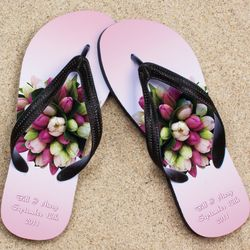 Personalized Bouquet Wedding Beacher Sandal