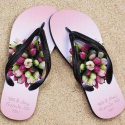 Personalized Bouquet Wedding Beacher Sandal