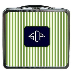 Chartreuse Cabana Metal Lunch Box